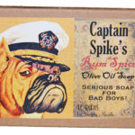 Captain Spike's Rum Spice Olive Oil Soap Angled LP01-2