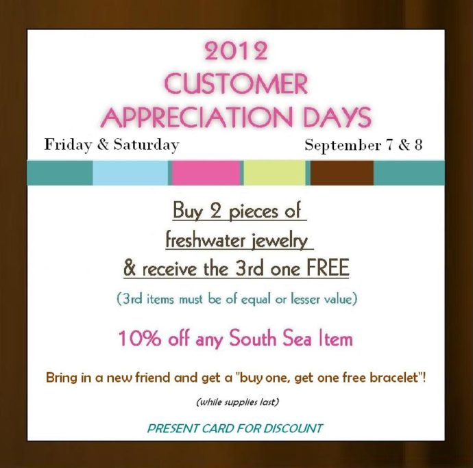 customer appreciation flyer