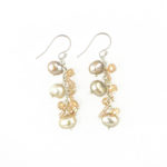 Dazzle Me Champagne Earrings 921b
