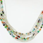 Dazzle Me Confetti Necklace Multi Hanging 942