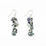 Dazzle Me Midnight Dance Earrings 925b