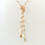 Dusk to Dawn Lariat Peach Hanging 849
