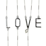 Exuberant L O V E Necklace 1059