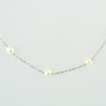 Favonian Necklace in White Hanging Close 927b