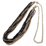 Gala Black and Gold 4-in-1 Necklace