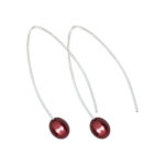 Hooked On a Feeling Earrings Cherry Red