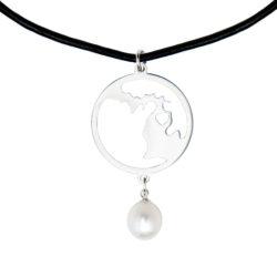 Love Michigan 2069 Black Necklace
