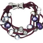 Mardi Gras Bracelet Plum 1065