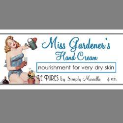 Miss Gardener's Hand Cream Label LP04-12