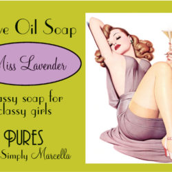 Miss Lavender Soap Package Front LP01-4