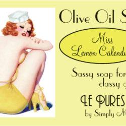 Miss Lemon Calendula Soap Package Front LP01-5