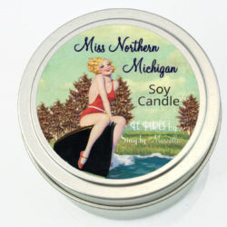 Miss Northern Michigan Soy Candle Front Summer LP02-13