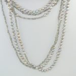 Out on the Town in Symphony Silver Necklace Hanging Double 840c
