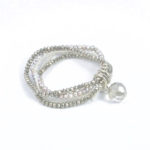 Silver Duet Stretch Bracelet 789b Two