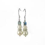 Snowman Earrings in Ice Blue 61v