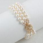 Triple-Strand Pearl Bracelet 22
