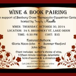 Wine and Book Event