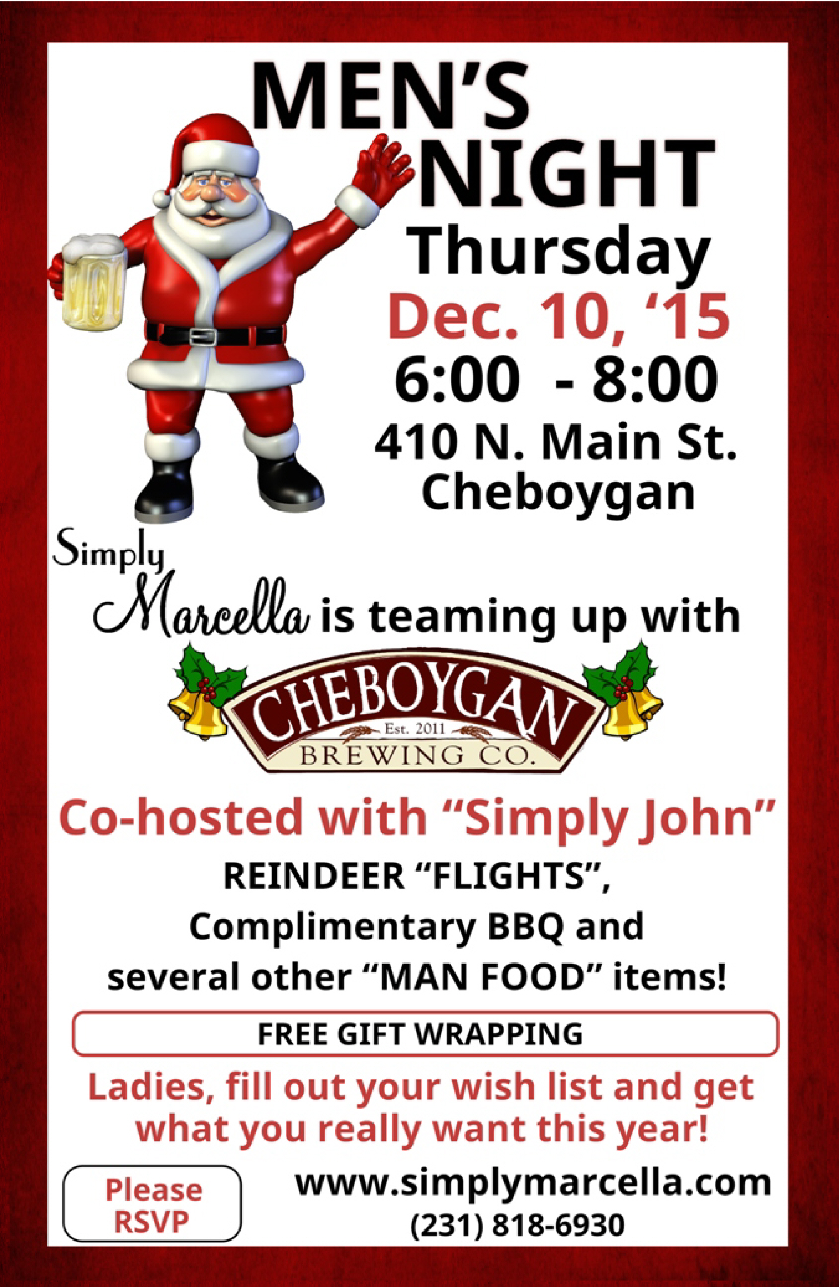 cheboygan men The cheboygan area chamber of commerce ambassadors are a group of dedicated men and women who volunteer their time to furthering the chamber's goals of increasing commerce in the cheboygan.